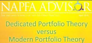 Dedicated Portfolio Theory versus Modern Portfolio Theory